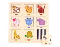 Dieren patroon puzzel