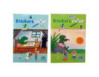 Kikker sticker & color
