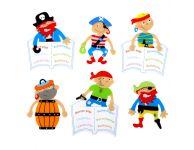 Kinder boekenlegger piraat