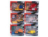 Speelgoedauto hulpdiensten set
