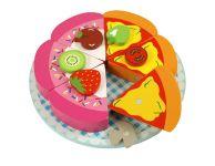 Pizza en taart snijset