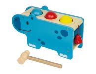 Houten hamerbank nijlpaard