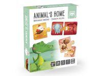 Puzzel waar wonen dieren?