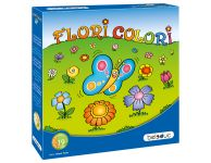 Houten spel Flori colori