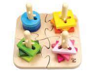 Houten sorteerplank vormen puzzel