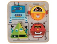 Houten puzzelplank robot