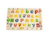 Houten knoppuzzel alfabet