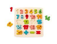 Houten puzzel getallen