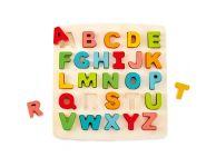 Houten puzzel alfabet hoofdletters