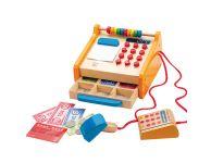 Houten speelgoed kassa