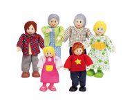 Houten poppenhuis familie europa