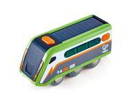 Houten trein op zonne-energie