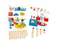Houten spel Find and count colors