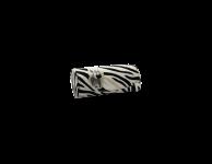 Kinder brillenkoker zebra wit