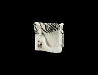 Kinder schoudertas zebra wit