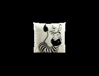 Kussen zebra wit